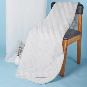 100%-Poly Soft-Touching Linen Like Stripe Design Curtain