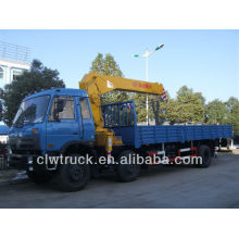 Dongfeng good quality 3 alxes 5 tons truck crane