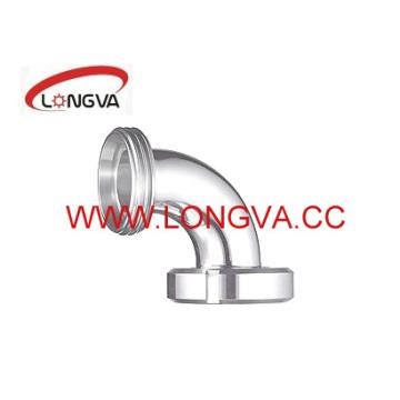 Coude d'extrémité d'union sanitaire en acier inoxydable