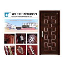 Porta de madeira nova da placa da armadura do projeto a mais atrasada