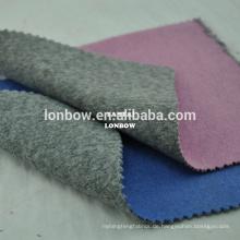 Blaue Wolle doppelseitigen Stoff mischen graue Farbe für Wintermantel