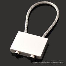 Promotion Rectangle Zinc Alloy Key Holder with Wire Rope (F1344)