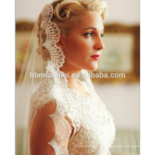 L'Europe et les États-Unis la nouvelle mode mariée voile accessoires de mariée doit voiler voile de mariée en dentelle