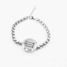 Dernières conception vente chaude 316L acier inoxydable diffuseur huile bracelet médaillon