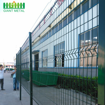 Hot Sale Decorative PVC Coated Triangle Bend Fence