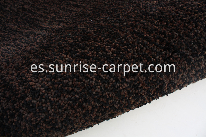 Elastic Polyester Shaggy Rug brown color