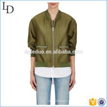 Espesar chaqueta de bombardero de seda venta caliente mujeres 2017 chaqueta de diseño europeo de invierno