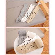 Moda Leopard algodón medias para niña