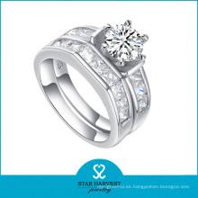 Anillo de bodas de la joyería de la plata esterlina de la venta al por mayor 925 (R-0132)