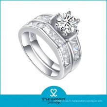 Bague de mariage 925 en argent sterling avec bijoux en gros (R-0132)