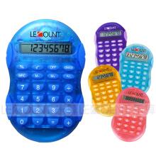 8 chiffres Calculatrice portable de petite taille avec couleurs transparentes facultatives (LC555A)