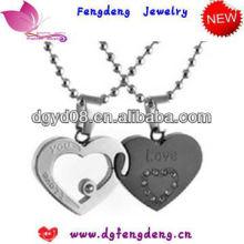 fashion jewerly deux pendentif amant de forme de coeur