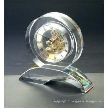 Fournitures de bureau Horloge en cristal et ensemble de montres