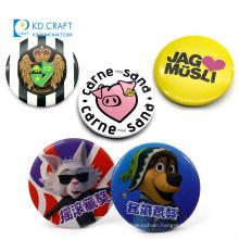 Wholesale no minimum cheap custom made metal tin cartoon character heart plain cat anime button badge with safety pin