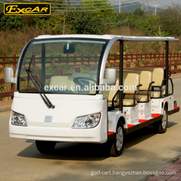 CE Approved 7.5KW 72V Trojan 14 Seaters Electric Sightseeing bus Electric Tour Car