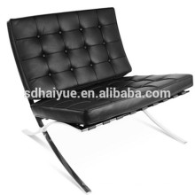 Bequemer Klubsessel Barcelona Stuhl in schwarzem PU
