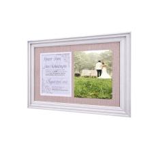 New design wholesale custom wood Frame Soft linen back for fixing wedding photos wedding photo frame