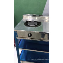 stainless steel double gas cooker table stander gas cooktop