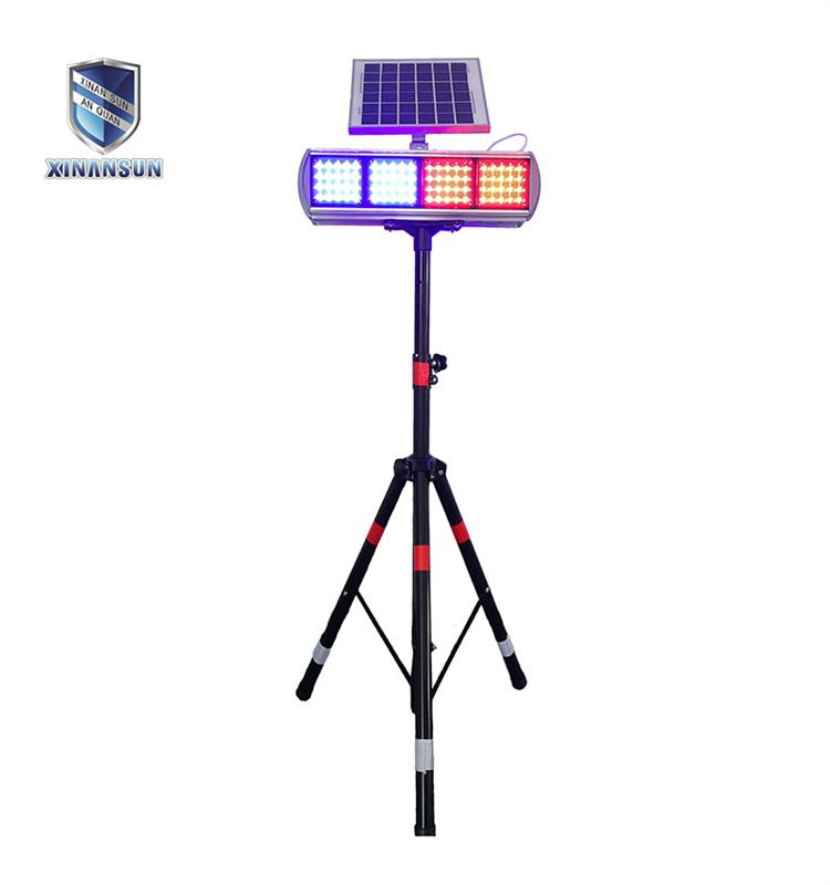 Roadway safety solar strobe light