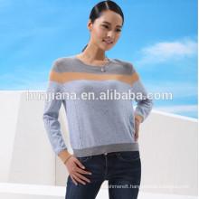 fashion jacquard woman's cashmere sweater