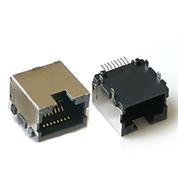 RJ45 SIDE ENTRY W / SHIELD OHNE EMI & LED