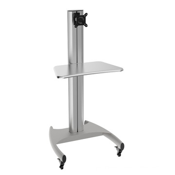 """Mobile Computer Workstation Single Monitor 10-24"""" Height Adjustment (PCM 1201A)"""
