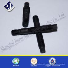 Poteaux double extrémité hexagonaux noir TS16949 ISO9001