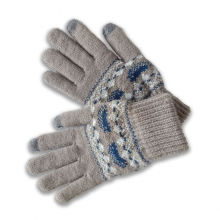 2021 wholesale private label winter gloves five finger cute children knitted winter gloves