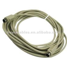 5M PS2 удлинительный кабель для удлинения существующего кабеля PS / 2 для мыши или клавиатуры