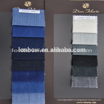 Blue plaid rich designs 100%merino wool woven suit fabric