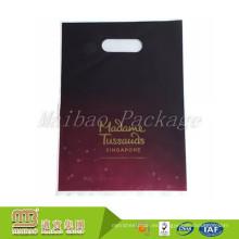 Diseño personalizado Impreso Hdpe Ldpe Heavy Duty Heat Seal Bolsa de plástico que lleva Patch Handle Bags
