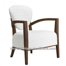 white occasional arm chairs in solid wood frame XYD427