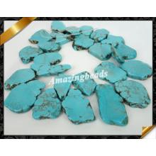 Голубой бирюзовый камень бисера ювелирные изделия, Slab Самородок Gemstone (GB0124)