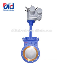 Automated Check V Smith Open Or Closed Carbon Steel Motorised Knife Gate Valve Installation