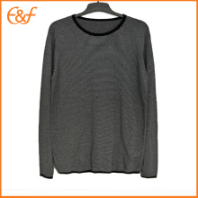 Men Black-white Vintage Inner Sweater
