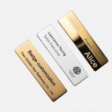 Replaceable ID Name Tag Metal Pin Sheriff Security High-end Leadership Custom Logo Badge