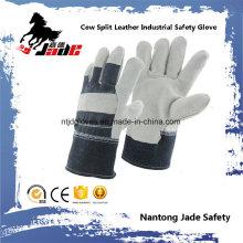 Grau Voll Palm Rindsleder Leder Arbeitsschutz Handschuh