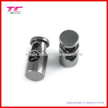 Kundenspezifisches schwarzes Nickel-Metall-Fass-Form-Schnur-Ende