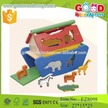 CE standard Noah's Ark wooden animal toys