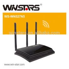 Roteador sem fio de alta potência concorrente, roteador sem fio dualband de 450Mbps com 3 antenas externas