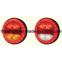 Round Shape LEDs Stop Turn Tail Light for Trucks