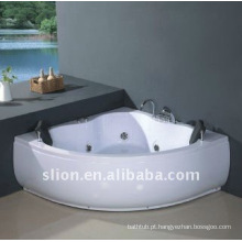 Indoor Corner Acrylic white Whirlpools banheira de hidromassagem