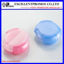 Pillbox de la cubierta de la diapositiva de la alta calidad de la forma redonda (EP-027)