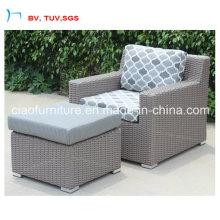 Садовая мебель диван диван с Оттоманкой (CF1372A)