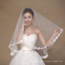 Finger Length Simple Design One Layer Wedding Bridal Veils