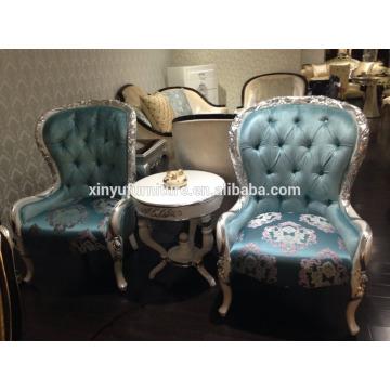 Hotel de luxo usado mesa pequena pública com cadeira de café XYN2502