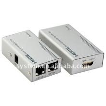 HDMI Super Extender por cabo Cat-5E / 6, Cat5 x1, HDMI Extender a 60m