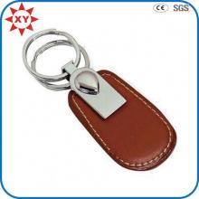 Vente en gros de Keychain en cuir de vente directe d'usine pour le cadeau d'affaires