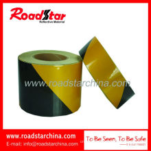 Engineering grade slant stripe PET reflective warning tape