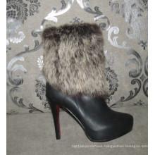 Fashion High Heel Ladies Leather Dress Boots (HCY02-1472)